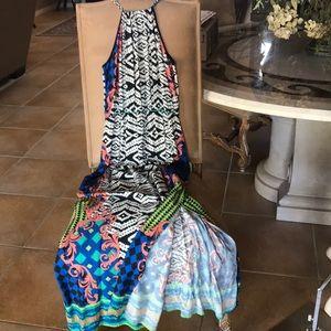 CACHE' Trapeze Maxi Dress M NEW